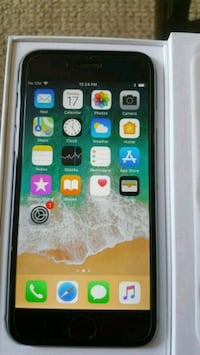 Black iphone6 factory unlocked like brand-new box Dollard-des-Ormeaux, H8Y 3B8