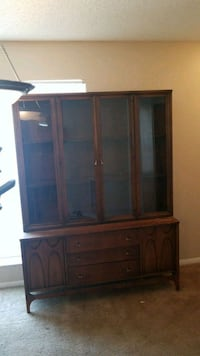 brown wooden TV hutch with cabinet Tampa, 33624