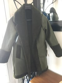 BNWT Leather Green Coat Size M Mississauga, L4Z 4A1