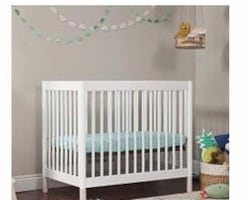 Brand new 2 in 1 mini crib and twin size bed