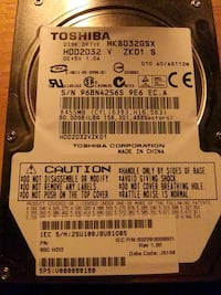 80 gig hard drive with fresh install of win xp