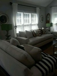Off white large fabric 2-piece sofa set 538 mi