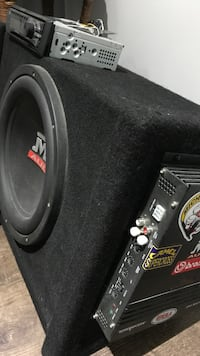 Black and gray subwoofer speaker Guelph, N1E 4Z7