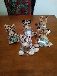 assorted animal plush toy collection