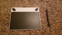 black and gray graphics tablet
