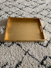 West Elm Lacquer Wooden Gold tray!