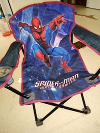 Camping chair w/cup holder & tote bag