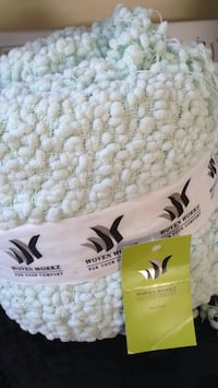 "Mint 50"" . 70"" crocheted blanket NEW never been opened Plainville, 02762"
