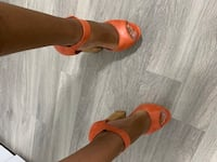 Orange Wedge Heels (Le Chateau) Toronto, M1R 1T1