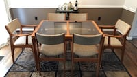 Scan teak dining table, chairs, coffee and nesting tables null
