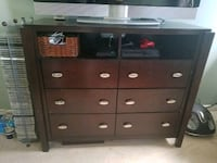 Media chest with 6 drawers small circle  Woodbridge, 22193