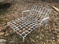 Rare Vintage Iron Daybed Lounge Chair Adjustable