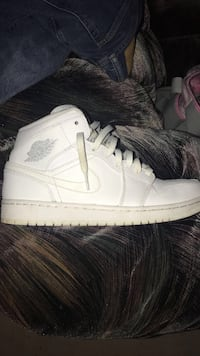 pair of white Air Jordan 1's Manassas, 20109