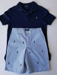 2 Piece Ralph Lauren Polo Set Blue Size 7