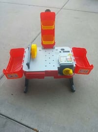 toddler's red and gray work bench play set Edmonton, T5Y 3E3