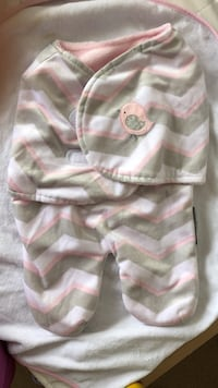 Baby's pink and white stripe onesie Toronto, M9C 0B1