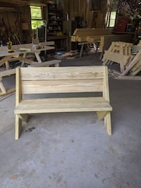 "Bench Seat (pressure treated) ""New"" 4' length"