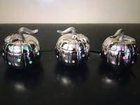 12 Metal Pumpkin Lanterns