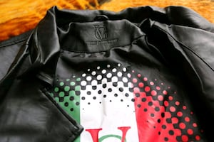 Black Versace leather jacket