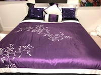 Black and purple bed set Surrey, V3Z 1E3