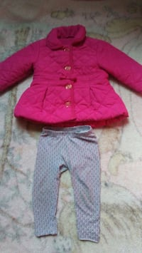 toddler's pink button-up jacket and pants Merced, 95341