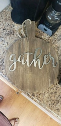 brown wooden Welcome wall decor 46 km