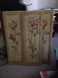 4 Wall decorative flower wood frames Germantown, 38139