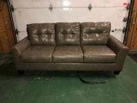 gray leather 3-seat sofa Brampton, L6V