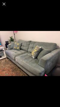 gray suede 3-seat sofa New Westminster, V3M 1M4