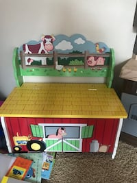 Children's storage bench