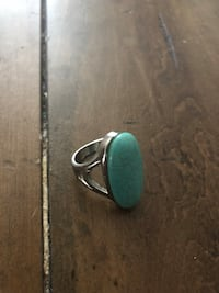 Women's turquoise ring with real silver Lakewood, 80215