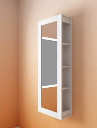 BRIMNES White Storage Unit with Mirror Annandale, 22003