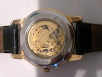 round silver chronograph watch with black leather  West Palm Beach, 33415