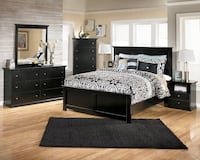 New black bedroom suite with chrome handles  Indianapolis, 46240
