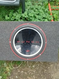 Punch bass speaker and box works great Vancouver, V5K
