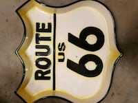 Vintage route 66 ceramic piece Burnaby