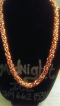 Copper chain-link necklace St. Louis, 63115