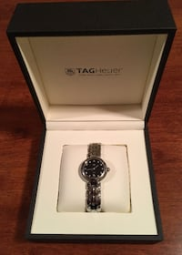 LADIES ~ TAG GUILLOCHE QTZ SS BLACK DIAMOND WATCH FOR SALE! Mississauga