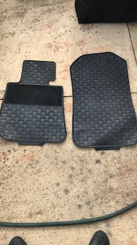 Two BMW black rubber car floor mats Sterling, 20165