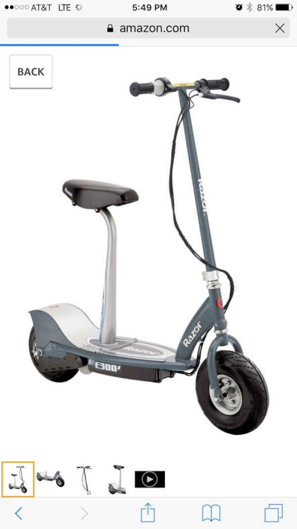 Razor Electric Scooter With Seat >> Gray Razor Electric Scooter With Seat
