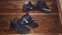 pair of black Nike basketball shoes Mississauga