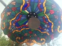Tiffany light (stained glass chandelier)