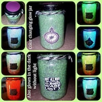 Not all who wander are lost compass glow jar