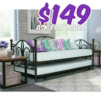 Daybed with trundle no mattress Dallas, 75207