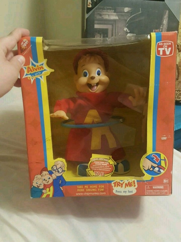 Alvin and the chipmunks singing toy