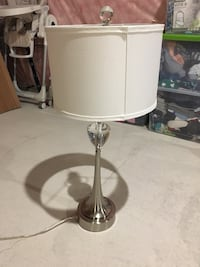 White and silver table lamp Brant