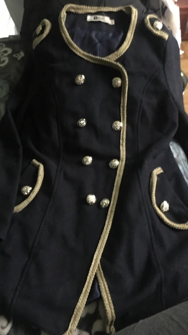 Navy jacket marine style gold buttons