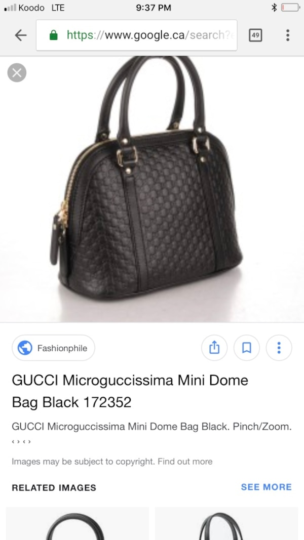 1c402f228 Used 100% Authentic Gucci black purse for sale in Sables-Spanish Rivers -  letgo