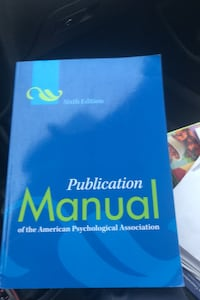Publication Manual of the American Physchological Association