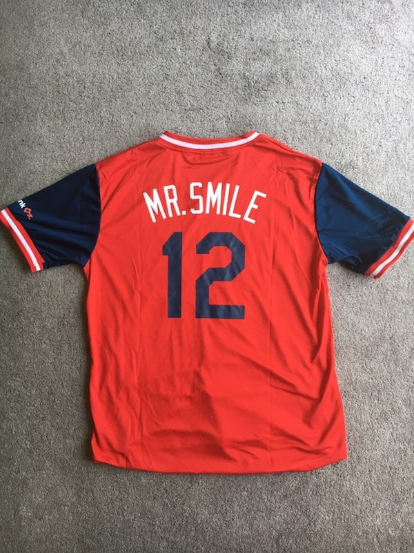 "timeless design 32c2f 4ecf0 Cleveland Indians Lindor ""Mr Smile"" Jersey"